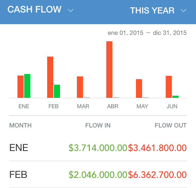 Cashflow in Pocket Expense