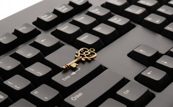 golden key on keyboard