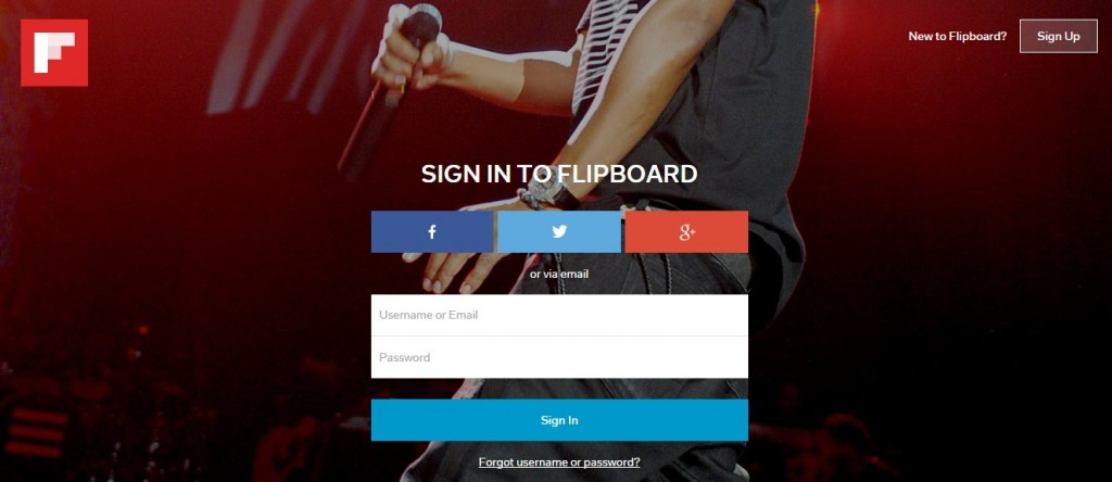 flipboard sign up