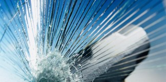 hammer crashes safety glass