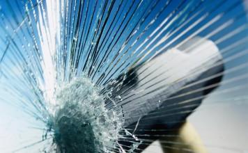 hammer crashes safety glass