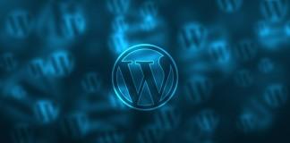 wordpress logo blue background