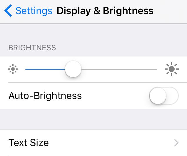 Apple display and brightness