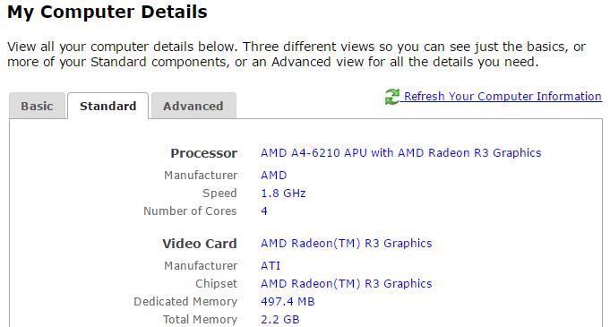 computer details online