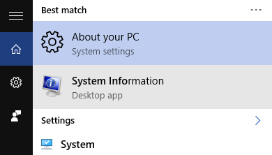 system info windows pc