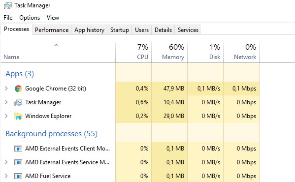 task manager startup windows
