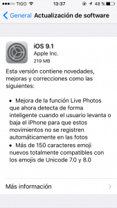 version 9.1 ios