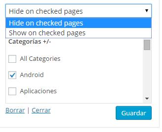 mostrar contenido según la categoría, etiqueta o pagina en wordpress