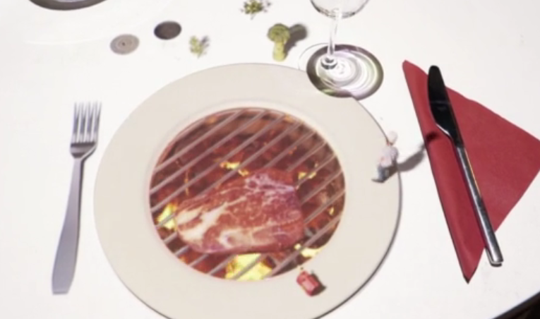 projection mapping restaurant table