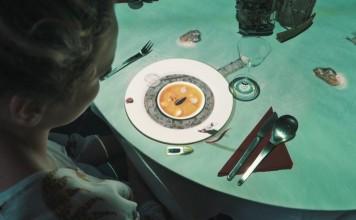 proyeccion 3D plato de comida