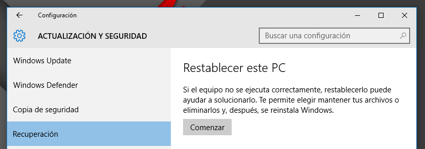 formatear pc windows 10