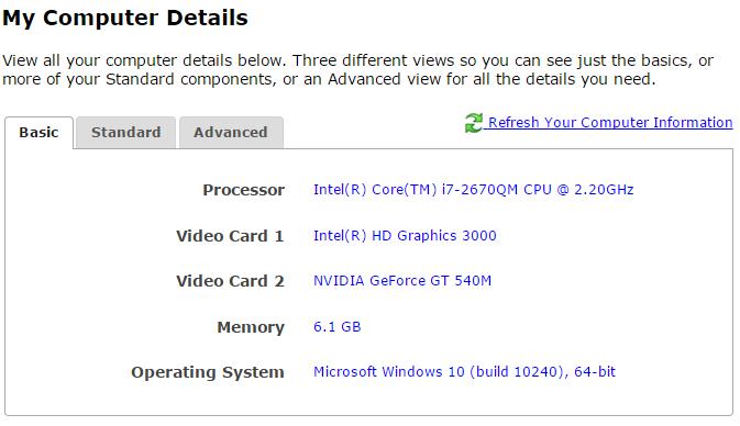 er los detalles de mi PC online y gratis