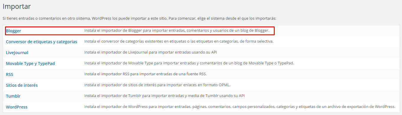 pasar de blogger a wordpress