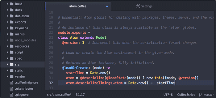 atom editor de codigo