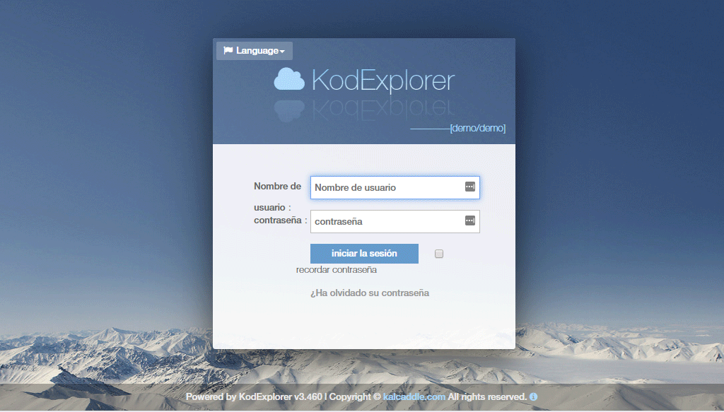 Login de KodExplorer