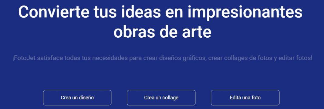 Opciones de diseño online con fotojet