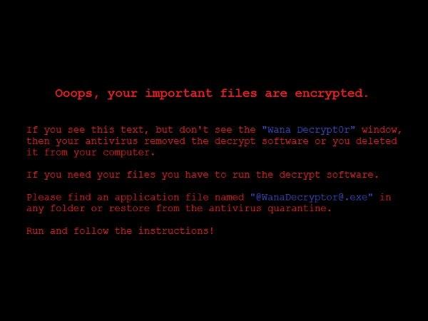 pantalla de aviso
