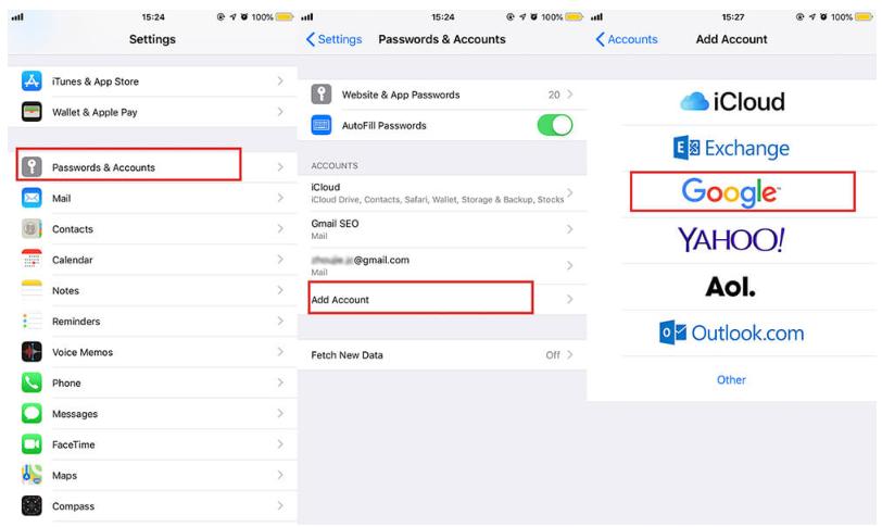transferir contactos de android a iphone usando google