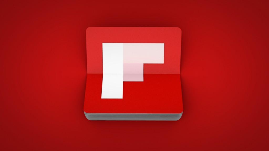 flipboard logo red background