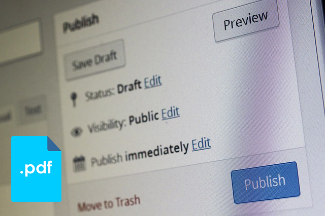 publish post wordpress