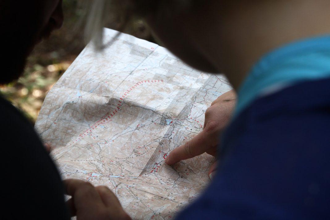 trazado de ruta en mapa