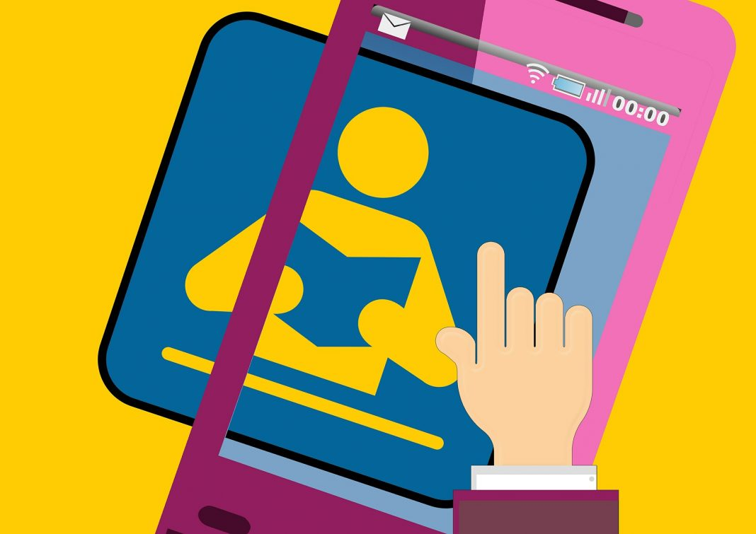 icono de marketing digital fondo amarillo