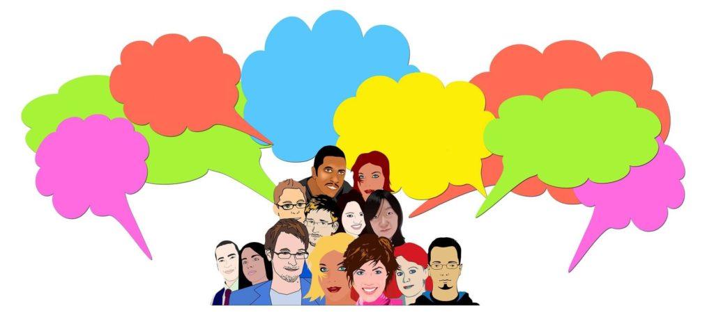 dibujo-de-personas-con-globos-de-texto-de-colores